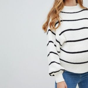 New Look Maternity Striped Sweater